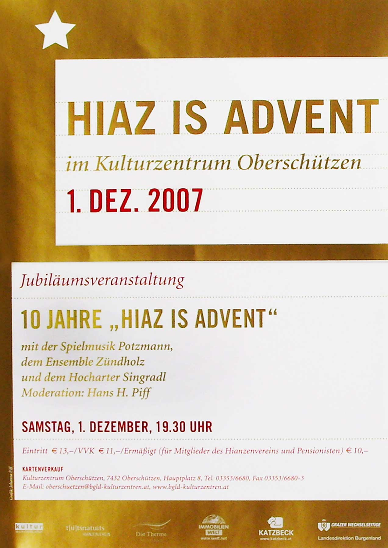 Hiaz is Advent Plakat
